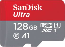 Sandisk Ultra Android microSDXC 128GB A1 UHS-I + SD Adapter